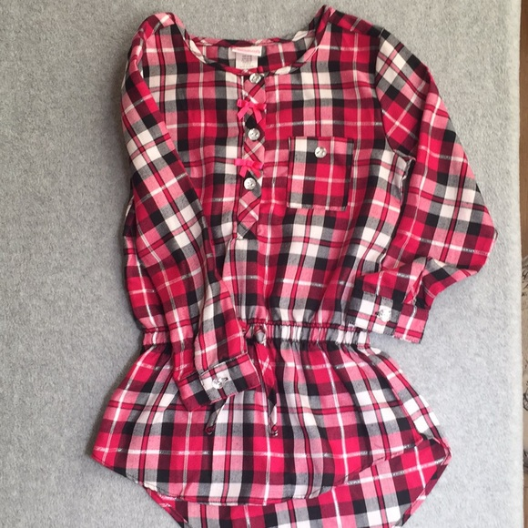Youngland Other - Beautiful Red/Magenta Plaid Girls Top